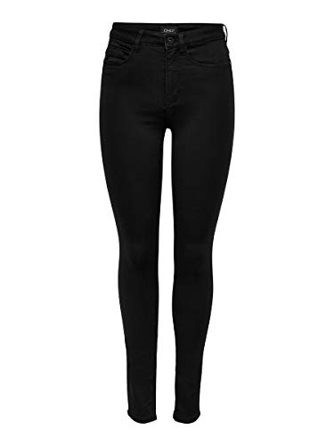 ONLY Damen Onlroyal High Sk Pim600 Noos 15093134 Jeans, Schwarz, EU XL/32
