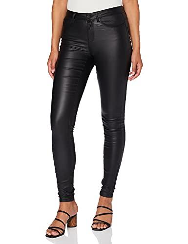ONLY Damen Onlanne Mid Waist Coated Noos Skinny Jeans, Schwarz (Black), L 34L EU