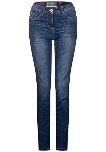 Cecil Damen 371968 Toronto Jeans, mid Blue Used wash, 31W / 30L