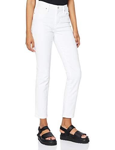 Levi's Damen 724 High Rise Straight Jeans, Western White, 32W / 32L