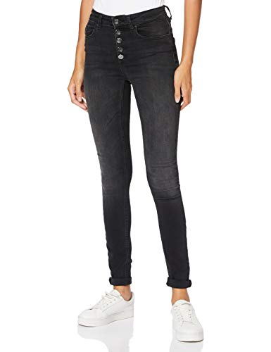 ONLY Damen Onlblush Hw Button Sk Rea1099 Noos Jeans, Black Denim, M / 30L