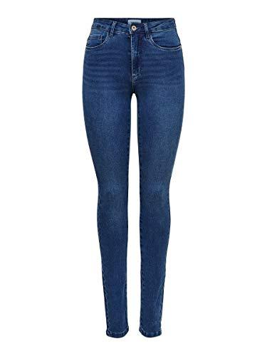 ONLY Damen Onlroyal High Waist Skinny Jeanshose, Medium Blue Denim, S 30L EU