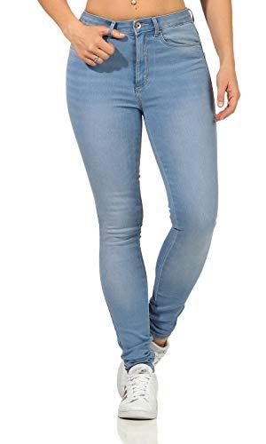 ONLY Damen Hight-Waist Jeans Hose ONLRoyal Life 15169037 Light Blue Denim S/32