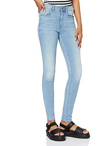 G-STAR RAW Damen Jeans 3301 High Waist Skinny, Blau (Lt Aged 6553-424), 29W / 32L