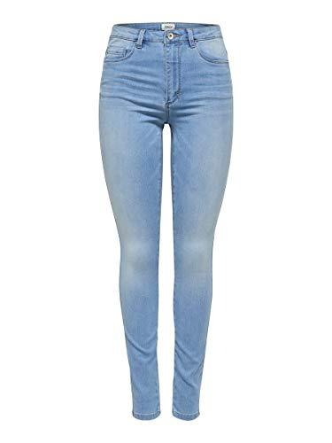 ONLY Damen Onlroyal Hw Sk Bb Bj13333 Noos Jeans, Light Blue Denim, S / 34L