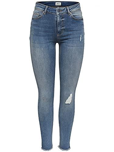 ONLY Female Skinny Fit Jeans ONLBlush Knöchel- M30Light Blue Denim