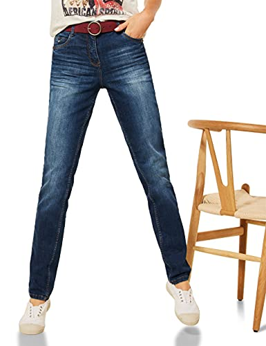 Cecil Damen Toronto Lang Jeans, mid Blue Used wash, W30/L32